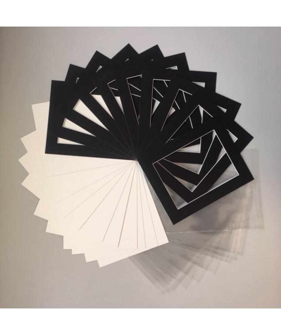 "Mount Kits 10"" x 8"" to fit 7"" x 5""   Black 20 Pack"