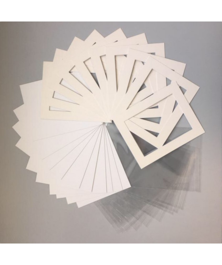 """Mount Kits 10"""" x 8"""" to fit 7"""" x 5""""   Cream 20 Pack"""