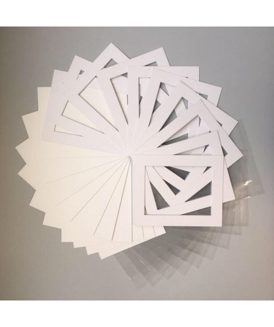 """Mount Kits 10"""" x 8"""" to fit 7"""" x 5""""  Textured White 20 Pack"""