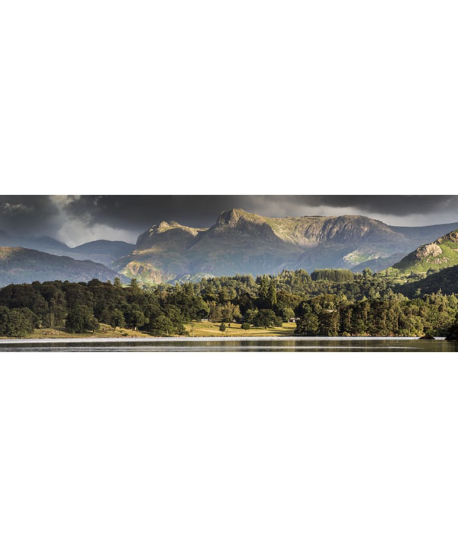 Langdale Pikes from Low Wood Bay