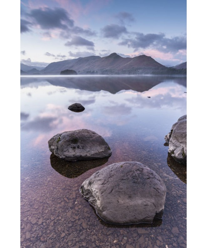 Pastel dawn Derwent water