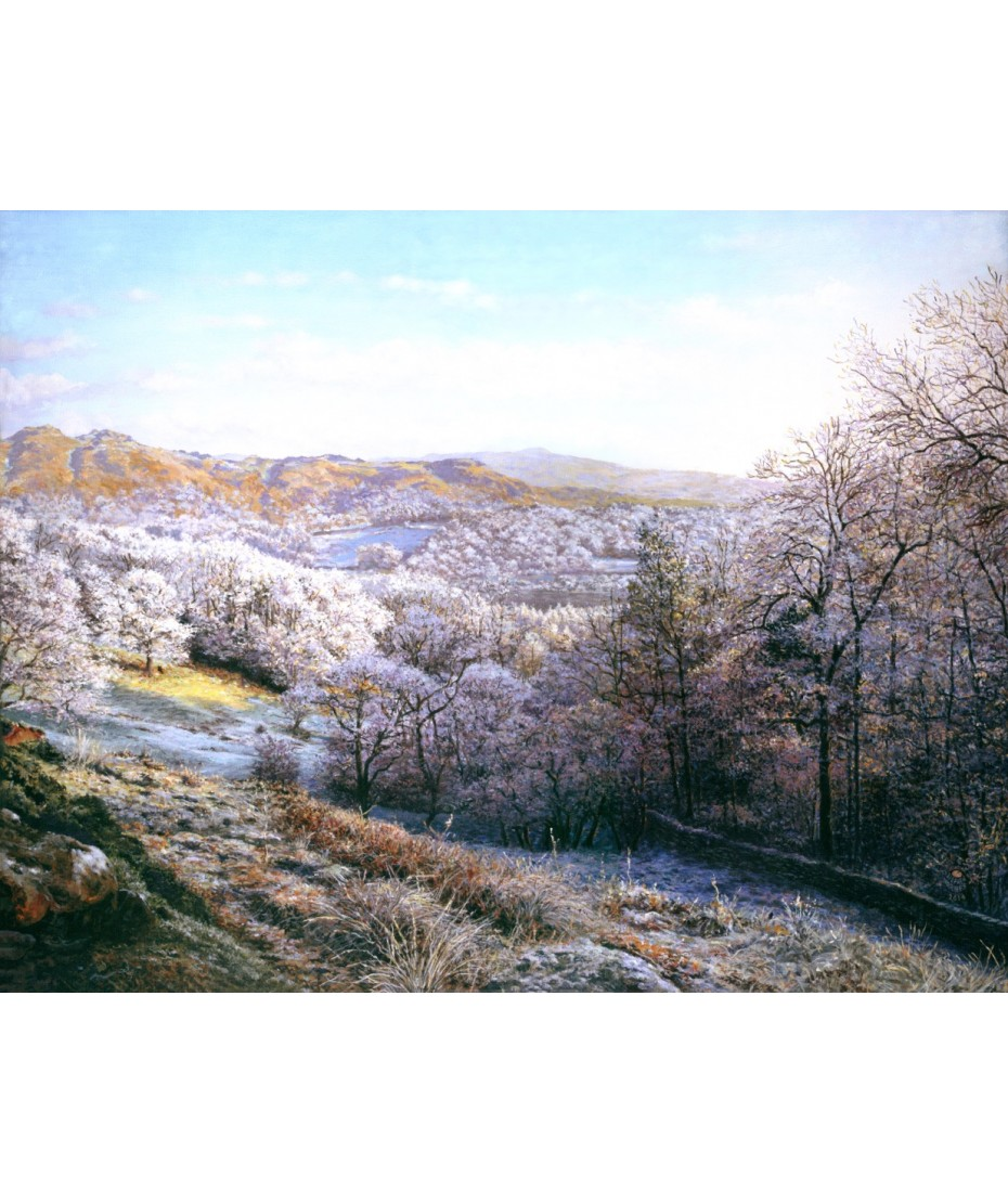 New Years Day Elterwater on canvas