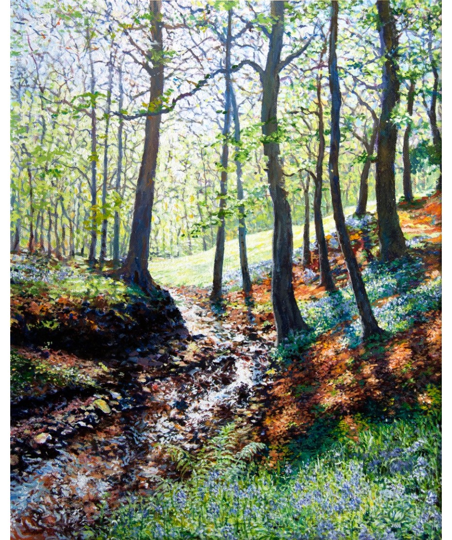 Bluebells on canvas