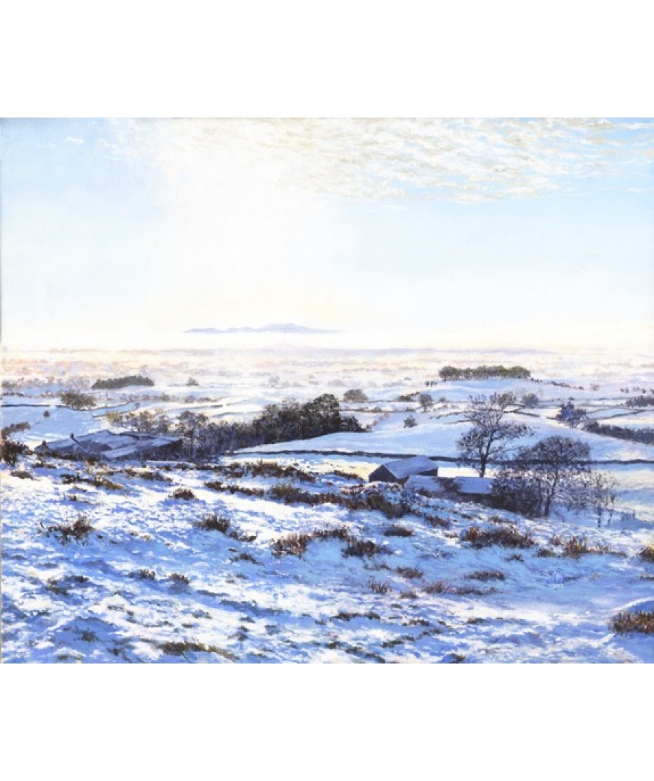 Fellside Winter on canvas